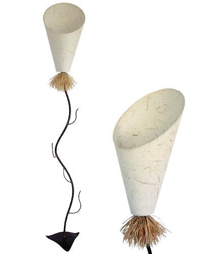 Lamps on Foot - Metal, with Lampshade